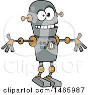 Poster, Art Print Of Cartoon Welcoming Robot