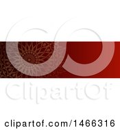 Clipart Of A Red Mandala Website Banner Design Royalty Free Vector Illustration