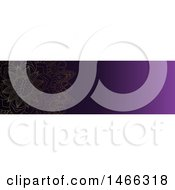 Clipart Of A Purple Mandala Website Banner Design Royalty Free Vector Illustration