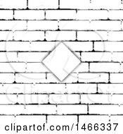 Black And White Brick Wall Texture Invite