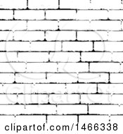 Clipart Of A Black And White Brick Wall Texture Royalty Free Vector Illustration by KJ Pargeter