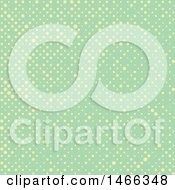 Clipart Of A Retro Yellow And Green Polka Dot Background Royalty Free Vector Illustration
