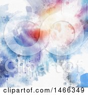 Poster, Art Print Of Dripping Watercolor Paint Background