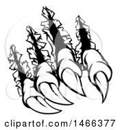 Black And White Sharp Claws Shredding Through Metal