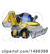 Poster, Art Print Of Digger Bulldozer Machine