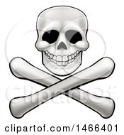 Clipart Of A Human Skull Over Crossbones Royalty Free Vector Illustration by AtStockIllustration