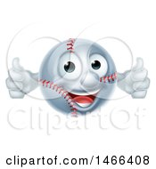 Poster, Art Print Of Baseball Mascot Giving Two Thumbs Up