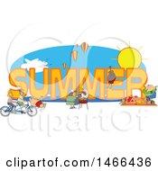 People Doing Activities Around The Word Summer