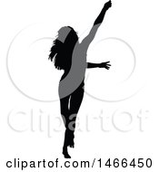 Silhouetted Woman Dancing