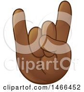 Hand Emoji Gesturing The Sign Of The Horns