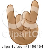 Poster, Art Print Of Hand Emoji Gesturing The Sign Of The Horns