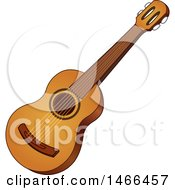 Clipart Of An Acoustic Guitar Instrument Royalty Free Vector Illustration