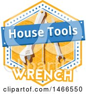 Wrench Shield Design With Text