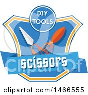 Scissors Shield Design With Text