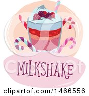 Clipart Of A Milkshake Design With Text Royalty Free Vector Illustration