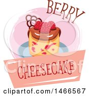 Clipart Of A Cheesecake Design With Text Royalty Free Vector Illustration