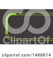 Clipart Of A Gray And Green Business Card Design Royalty Free Vector Illustration