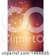 Clipart Of A Low Poly Connected Dot Background Royalty Free Vector Illustration