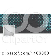Clipart Of A Blue And Gray Halftone Dot Social Media Cover Banner Design Element Royalty Free Vector Illustration