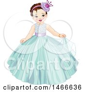 Clipart Of A Toddler Princess Girl Royalty Free Vector Illustration