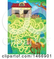 Maze With A Horse And Barn