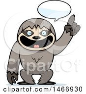 Clipart Of A Happy Talking Sloth Royalty Free Vector Illustration by Cory Thoman
