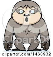 Clipart Of A Surprised Sloth Royalty Free Vector Illustration by Cory Thoman