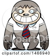 Clipart Of A Business Sloth Wearing A Tie Royalty Free Vector Illustration by Cory Thoman