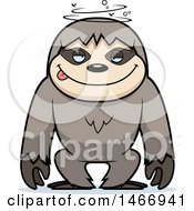 Clipart Of A Dizzy Or Drunk Sloth Royalty Free Vector Illustration by Cory Thoman