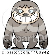 Clipart Of A Grinning Sloth Royalty Free Vector Illustration by Cory Thoman