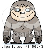 Clipart Of A Happy Sloth Royalty Free Vector Illustration by Cory Thoman