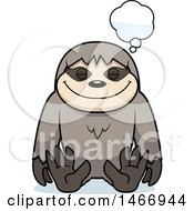 Clipart Of A Dreaming Sloth Royalty Free Vector Illustration by Cory Thoman
