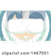 Clipart Of A Boy Wearing Virtual Reality Goggles Royalty Free Vector Illustration