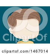 Clipart Of A Faceless Boy Over Blue Royalty Free Vector Illustration