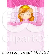 Clipart Of A Sleeping Princess Girl Royalty Free Vector Illustration by BNP Design Studio