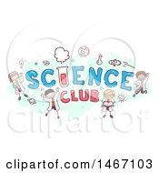 Sketch Of Children Around The Words Science Club