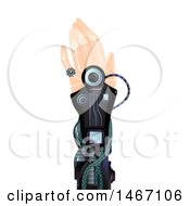 Clipart Of A Realistic Hand On A Robotic Arm Royalty Free Vector Illustration by BNP Design Studio