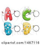 Clipart Of Alphabet Letters With Multiple Choice Option Circles Royalty Free Vector Illustration