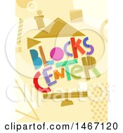 Clipart Of Blocks Center Text With Building Blocks Royalty Free Vector Illustration by BNP Design Studio
