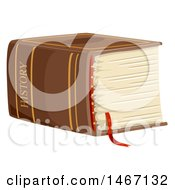 Clipart Of A Massive History Book Royalty Free Vector Illustration
