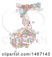Clipart Of A Sketched Music Note Made Of Books Royalty Free Vector Illustration by BNP Design Studio