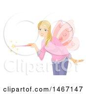 Female Teacher In A Fairy Costume