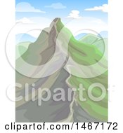 Landscape Showing A Mountain Ridge