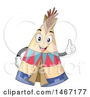 Clipart Of A Happy Tipi Mascot Giving A Thumb Up Royalty Free Vector Illustration
