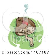 Clipart Of A Dead Psychedelic Mushroom Royalty Free Vector Illustration by BNP Design Studio