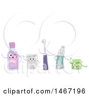 Clipart Of A Group Of Oral Hygiene Characters Royalty Free Vector Illustration