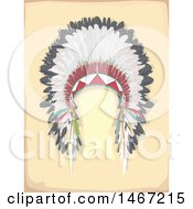 Clipart Of A Native American Feather Headdress Royalty Free Vector Illustration