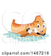 Clipart Of A Canoe Mascot Royalty Free Vector Illustration