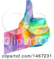 Colorful Geometric Thumb Up Hand