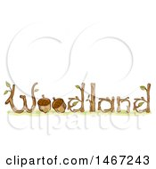 Clipart Of A Sketched Woodland Word Design With Acorns Royalty Free Vector Illustration by BNP Design Studio